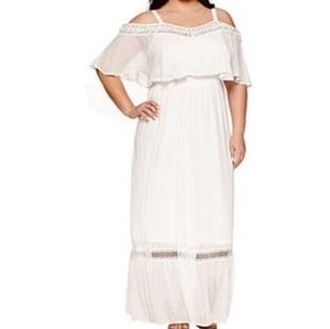 Ashley Nell Tipton for Boutique White Maxi Dress
